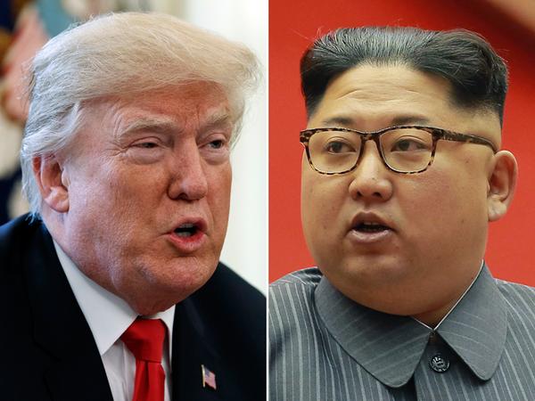 Tổng thống Mỹ Donald Trump (trái) không loại trừ khả năng gặp trực tiếp Lãnh đạo Triều Tiên Kim Jong-un (phải) Ảnh: NATIONAL POST