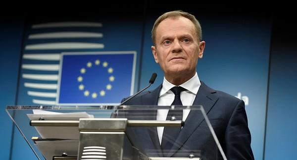 Chủ Hội đồng Liên minh châu Âu Donald Tusk cho biết sẽ triệu hồi đại sứ EU tại Nga. Ảnh: AFP