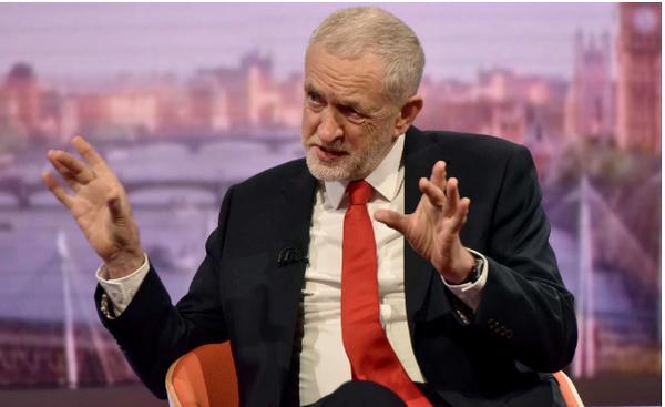 Lãnh đạo Công đảng Anh Jeremy Corbyn trả lời phỏng vấn BBC, không loại trừ việc đánh Syria sáng 14-4 là điềm báo hành động quân sự lớn hơn với Syria. Ảnh: TELEGRAPH