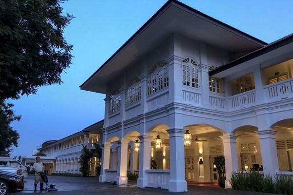 Khách sạn Capella ở Singapore, nơi tổ chức thượng đỉnh Mỹ-Triều. Ảnh: EPA
