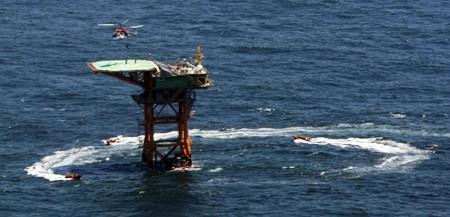 Hàn Quốc xây trạm nghiên cứu đại dương tại bãi đá chìm Ieodo – vốn bị Trung Quốc tranh chấp. Ảnh: KOREA TIMES