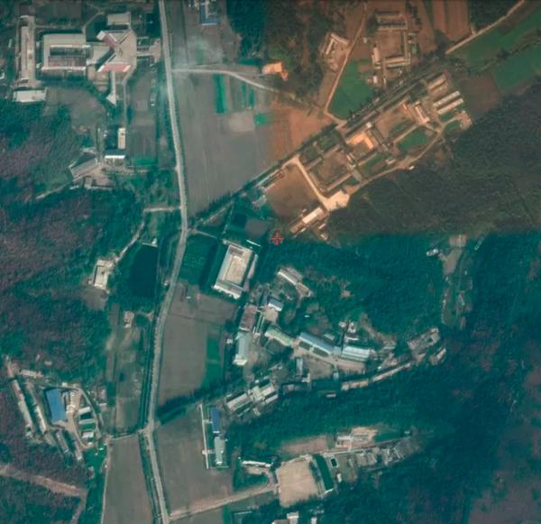 Hình ảnh vệ tinh chụp cơ sở tên lửa Sanumdong của Triều Tiên. Ảnh: GOOGLE