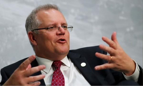 Bộ trưởng Tài chính Úc Scott Morrison cũng đang nhắm đến ghế thủ tướng của ông Malcolm Turnbull. Ảnh: REUTERS