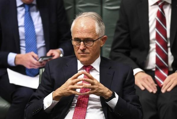 Thủ tướng Úc Malcolm Turnbull tại phiên chất vấn của Hạ viện Úc ngày 21-8. Ảnh: REUTERS