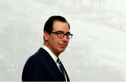 Bộ trưởng Tài chính Mỹ Steven Mnuchin. Ảnh: SCMP