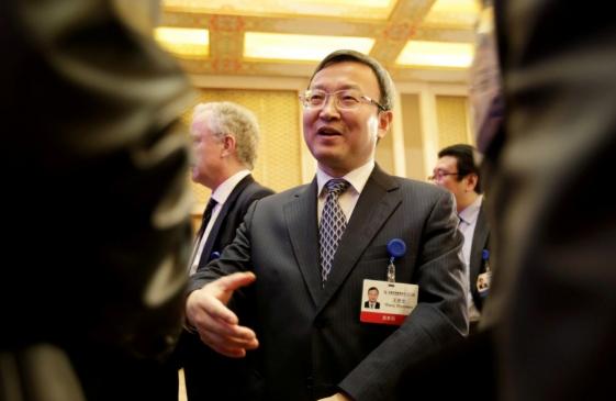 Phó Thủ tướng Trung Quốc Lưu Hạc (giữa) trong lần đàm phán cuối tháng 8 ở Mỹ. Ảnh: SCMP