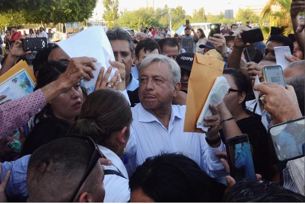 Tổng thống đắc cử Mexico Andres Manuel Lopez Obrador ngày 20-8, trong một sự kiện cám ơn người ủng hộ sau chiến thắng cuộc bầu cử ngày 1-7. Ảnh: REUTERS