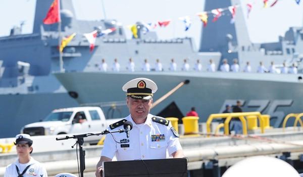 Trung Quốc vừa triệu hồi chỉ huy hải quân Shin Jinlong. Ảnh: THX