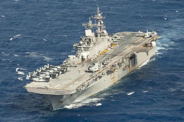 Tàu đổ bộ tấn công USS Wasp của Mỹ vừa bị Trung Quốc từ chối cho phép thăm Hong Kong. Ảnh: US NAVY