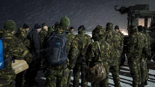 Binh sĩ Đan Mạch đến Lithuania tập trận hồi tháng 8. Ảnh: BỘ QUỐC PHÒNG ĐAN MẠCH