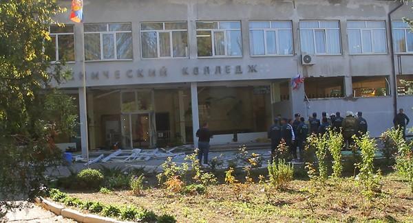 Ngôi trường cao đẳng bách khoa Kerch nơi đã xảy ra vụ tấn công. Ảnh: SPUTNIK