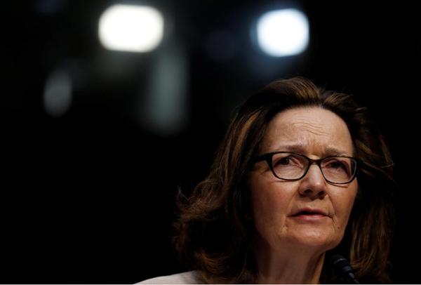 Bà Gina Haspel trong buổi điều trần trước Ủy ban Tình báo Thượng viện nhằm xác nhận đề cử bà vào vị trí Giám đốc CIA, ngày 9-5. Ảnh: REUTERS