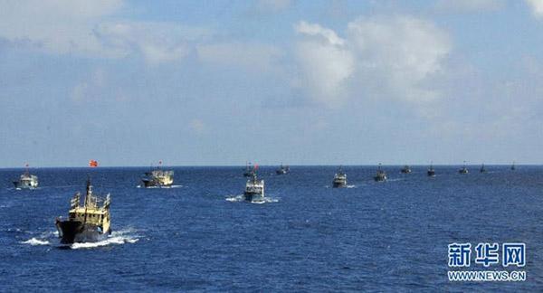 Tàu cá Trung Quốc hiện diện ở quần đảo Trường Sa thuộc chủ quyền Việt Nam. Ảnh: WWW.NEWS. CN