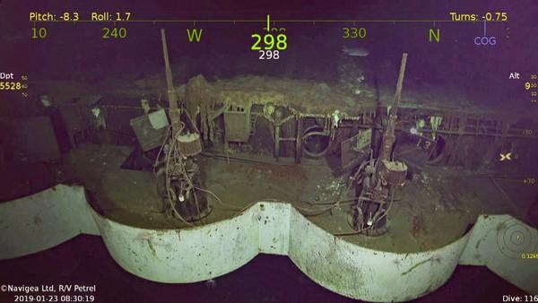 Xác tàu sân bay USS Hornet. Ảnh: FOX NEWS