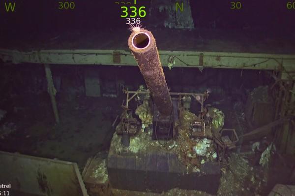 Xác tàu USS Hornet dưới đáy biển. Ảnh: FOX NEWS