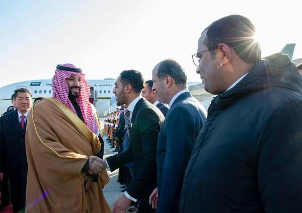 Thái tử Mohammed bin Salman đến Trung Quốc trong nỗ lực mở rộng quan hệ sang hướng Đông. Ảnh: TWITTER