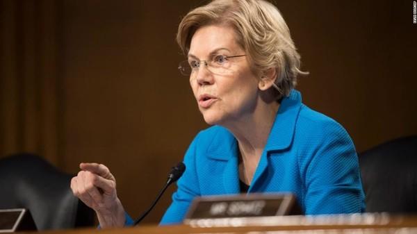 Thượng nghị sĩ Dân chủ Elizabeth Warren. Ảnh: CNN