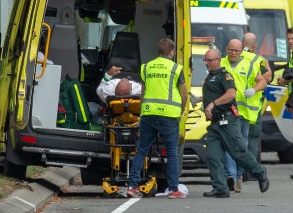 Hình ảnh vũ khí trong đoạn video xả súng ở New Zealand. Ảnh: NYP chụp từ màn hình