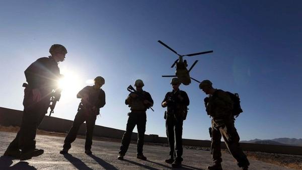 Binh sĩ Mỹ tại tỉnh Logar (Afghanistan) năm 2017. Ảnh: AP