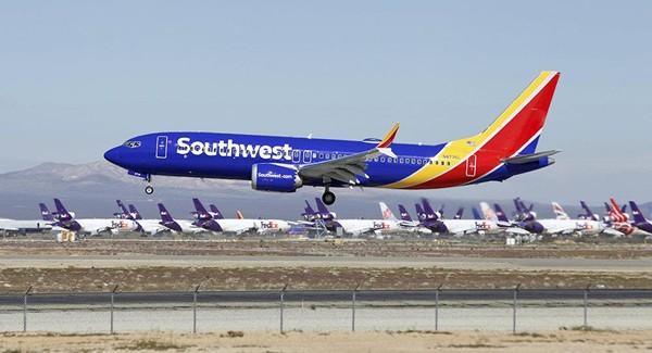 Một chiếc Boeing 737 MAX 8 của hãng Southwest Airlines. Ảnh: AP