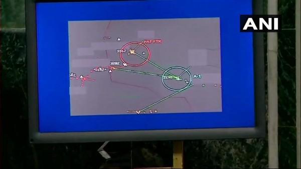 Hình ảnh radar cho thấy có 1 chiếc F-16 của Pakistan bị bắn rơi. Ảnh: ANI