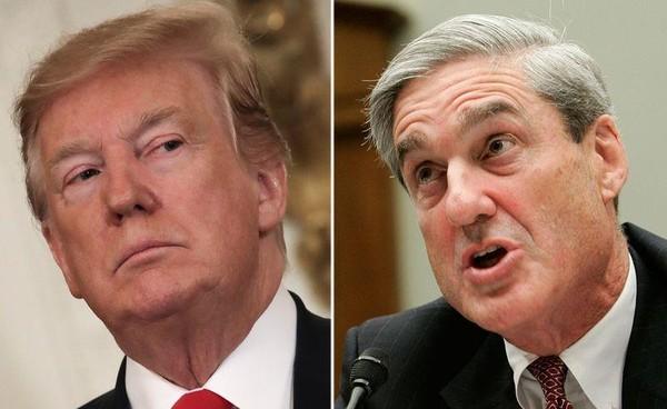 Báo cáo điều tra nói Tổng thống Mỹ Donald Trump đã cố kiểm soát cuộc điều tra Nga và cố gắng sa thải Công tố viên đặc biệt Robert Mualler (phải). Ảnh: AP