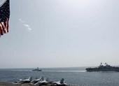 Tàu sân bay, tàu chiến Mỹ tập trận gần Iran