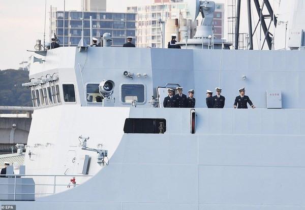 Tàu chiến Trung Quốc đến cảng Sydney. Ảnh: AAP