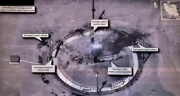 Hình ảnh có độ phân giải cao về vụ phóng vệ tinh thất bại của Iran được Tổng thống Mỹ Donald Trump đưa lên TWTTER ngày 31-8.