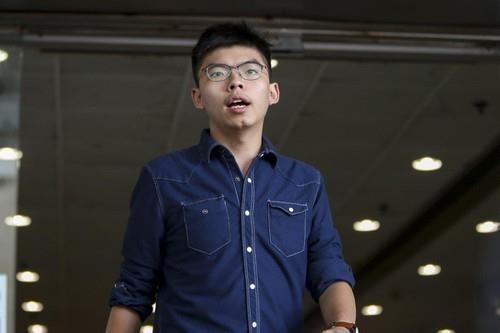 Hoàng Chi Phong đã được thả ngày 9-9 và được phép rời Hong Kong sang Đức và Mỹ. Ảnh: SCMP