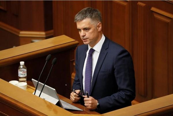 Ngoại trưởng Ukraine Vadym Prystaiko. Ảnh: REUTERS