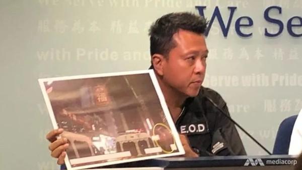 Cảnh sát Hong Kong họp báo về biểu tình, ngày 14-10. Ảnh: MEDIACORP