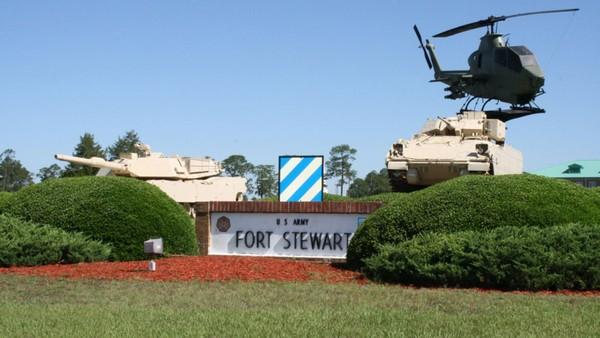 Căn cứ Fort Stewart ở bang Georgia (Mỹ). Ảnh: GETTY IMAGES