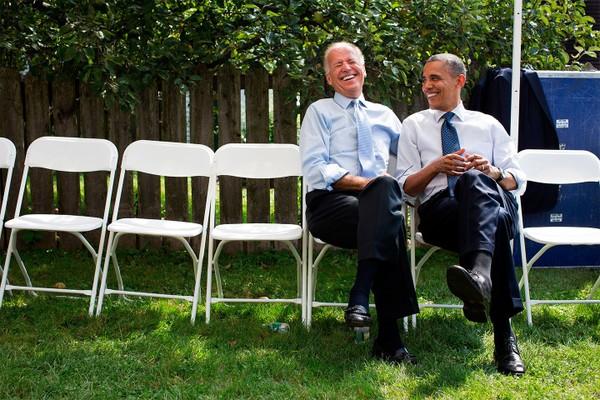 Ông Obama và ông Biden thời còn làm việc chung trong Nhà Trắng. Ảnh: VANITY FAIR
