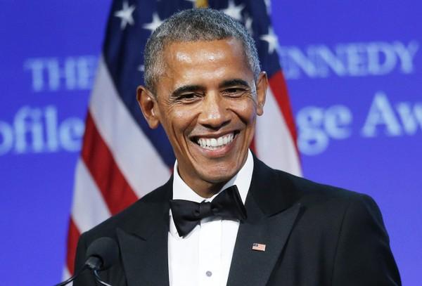 Cựu Tổng thống Mỹ Barack Obama tại sự kiện ở Singapore ngày 16-12, nhận định phụ nữ lãnh đạo tốt hơn đàn ông. Ảnh: GETTY IMAGES