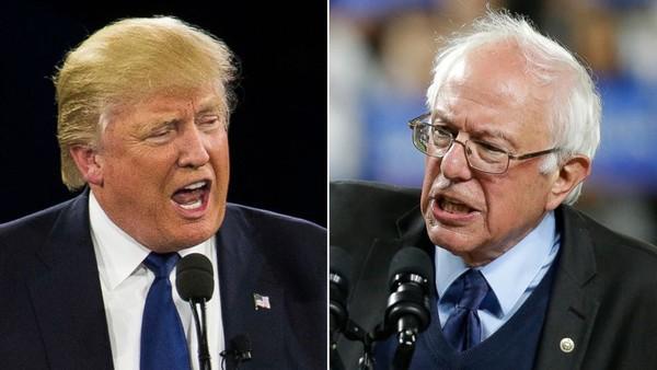 Nếu thực sự nhận được đề cử của đảng Dân chủ, liệu ông Bernie Sanders (phải) có đấu lại nổi với đối thủ Cộng hòa – đương kim Tổng thống Donald Trump (trái)? Ảnh: ABC NEWS