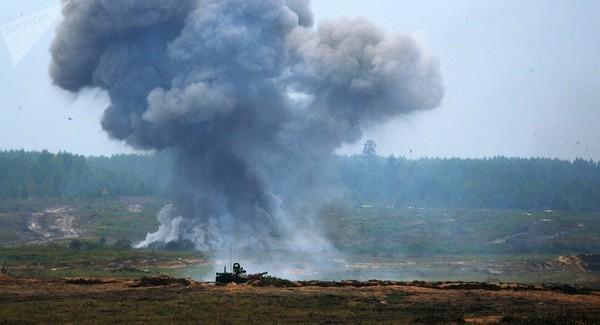 Mỹ không kích 5 cơ sở quân sự của nhóm dân quân Lữ đoàn Hezbollah ở Iraq và Syria. Ảnh: SPUTNIK