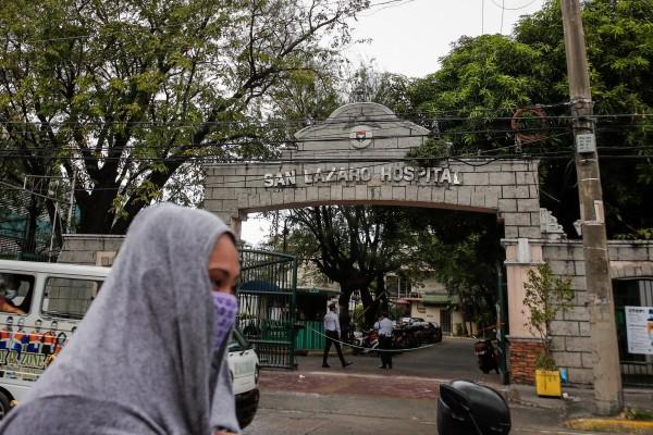 Ca tử vong đầu tiên vì virus Corona ở Philippines ngày 2-2 được xác định nằm tại bệnh viện San Lazaro ở thủ đô Manila. Ảnh: EPA