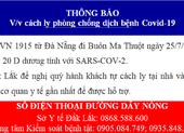 Thông báo khẩn liên quan chuyến bay từ Đà Nẵng về Đắk Lắk