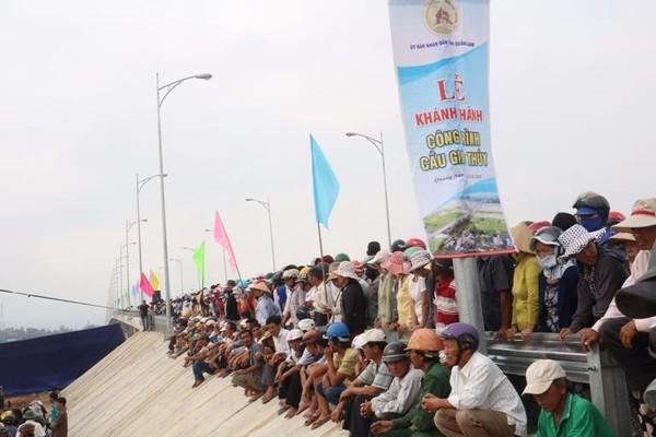 Cây cầu được phê duyệt mức đầu tư hơn 800 tỉ đồng đã hoàn thành.