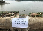 2 quả đạn cối còn nguyên kíp nổ ở ven sông Sài Gòn