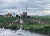 Cục Hàng không lên tiếng về sự cố máy bay trượt đường băng