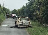Phát hiện bộ xương khô trong xe taxi cháy trơ khung