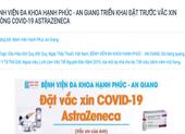 An Giang thông tin vụ BV tư nhân đăng thông báo tiêm vaccine COVID-19 dịch vụ