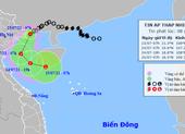 Áp thấp nhiệt đới đang ở trên vùng biển tỉnh Quảng Ninh