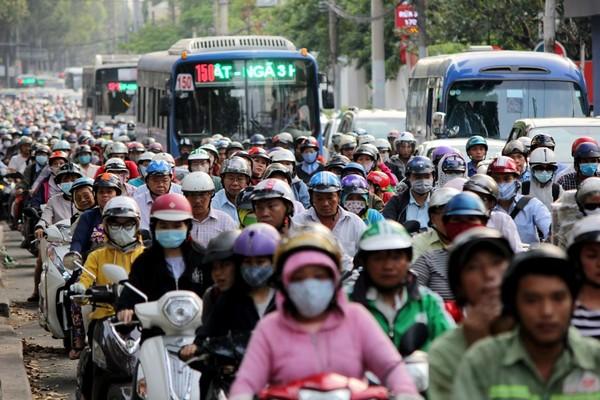 kẹt xe đường Điện Biên Phủ