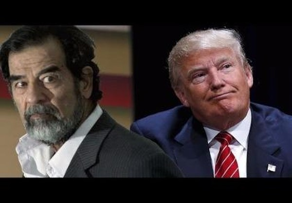 donald trump khen Saddam Hussein