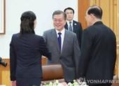 Em gái ông Kim Jong-un diện kiến Tổng thống Moon Jae-in