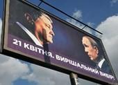 Hình ảnh ông Putin trên bảng quảng cáo bầu cử Ukraine