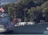 Tàu chiến Mỹ mang tên lửa dẫn đường đi qua eo biển Đài Loan